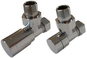 Комплект клапанов с ручной регулировкой Форма угловая Элегант Хром