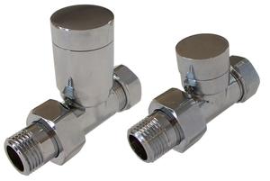 Комплект клапанов с ручной регулировкой Форма Проходная, Хром