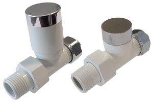 Комплект клапанов с ручной регулировкой Форма Проходная, Белый - Хром