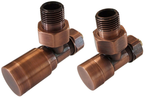 Комплект клапанов с ручной регулировкой Форма угловая Элегант Медь Антик