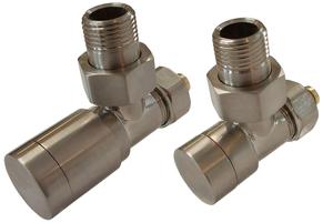 Комплект клапанов с ручной регулировкой Форма угловая Элегант Сталь