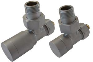 Комплект клапанов с ручной регулировкой Форма угловая Элегант Сатин