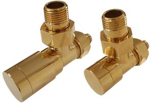Комплект клапанов с ручной регулировкой Форма угловая Элегант Золото