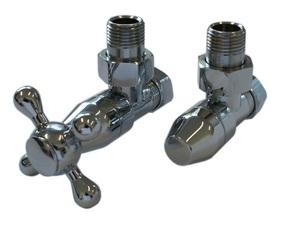 Комплект клапанов с ручной регулировкой Форма угловая Хром