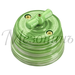 Выключатель фарфоровый поворотный на 4 положения, Art-Verde