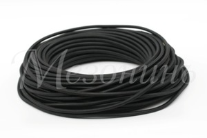 Провод монтажный круглый ПВХ 2х2,5, цвет - черный (бухта 25 м)