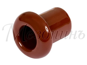 Втулка межстеновая фарфор, цвет - коричневый