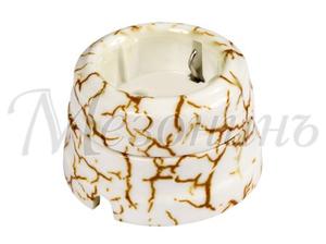 Розетка с заземляющим контактом, цвет - светлый мрамор