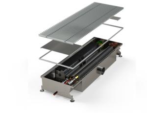 Двухконтурный внутрипольный конвектор с возможностью подачи свежего воздуха в помещение MINIB HCM 4P air 3000 мм