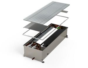 Высокопроизводительный двухконтурный внутрипольный конвектор с возможностью охлаждения MINIB HCX 4P 3000 мм