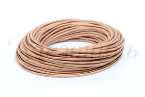Провод монтажный круглый ПВХ 2х2,5, цвет - капучино (бухта 25 м)