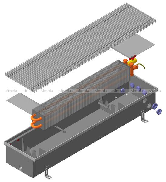 Warmes Haus KWH 350-120-3600.00.000 встраиваемый конвектор с естественной регуляцией
