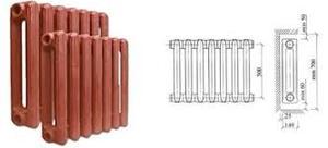 Чугунный радиатор МС-140 (7 секциий)