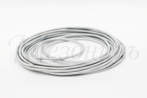 Провод монтажный круглый ПВХ 2х2,5, цвет - титан (бухта 25 м)